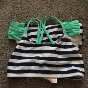 NWOT Cat & Jack Blue and White Striped Bikini